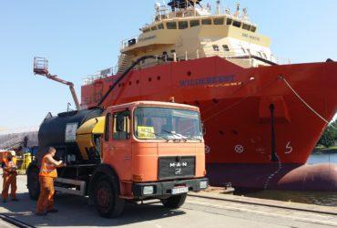 Remonty cząstkowe nawierzchni bitumicznych na terenie stoczni Shipbuilding